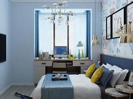 蓝爵士系列儿童房飘窗设计效果图