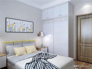 北欧现代风格炫彩都市卧房衣柜