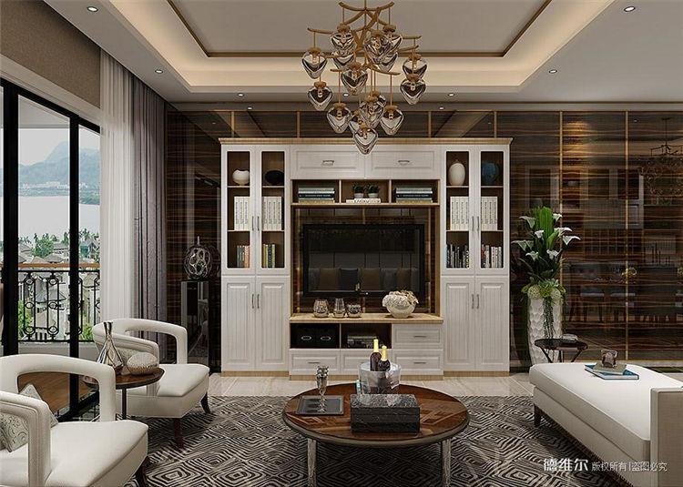 从化定制家具设计效果图:从化云星钱隆公馆2栋一单元01.02户型客厅