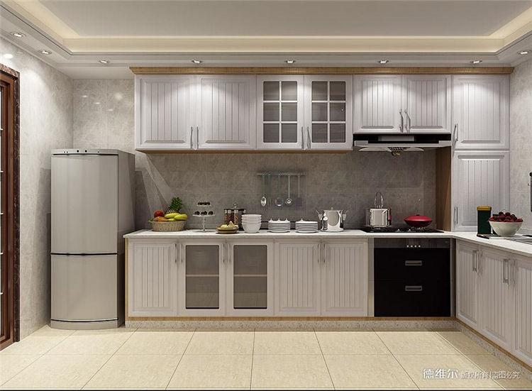 从化定制家具设计效果图:从化云星钱隆公馆2栋一单元01.02户型厨房橱柜设计效果图