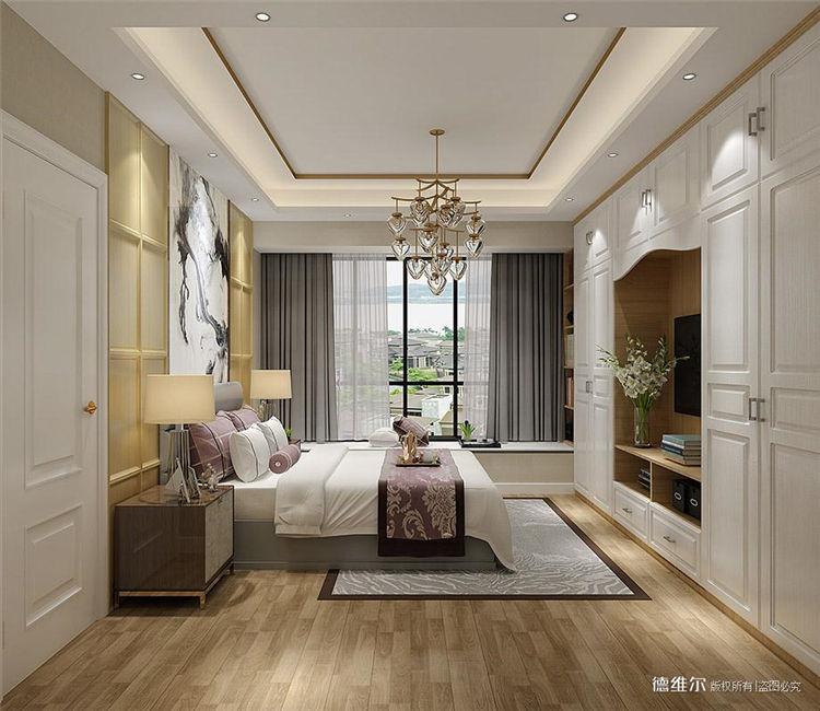 从化定制家具设计效果图:从化云星钱隆公馆2栋一单元01.02户型卧室衣柜