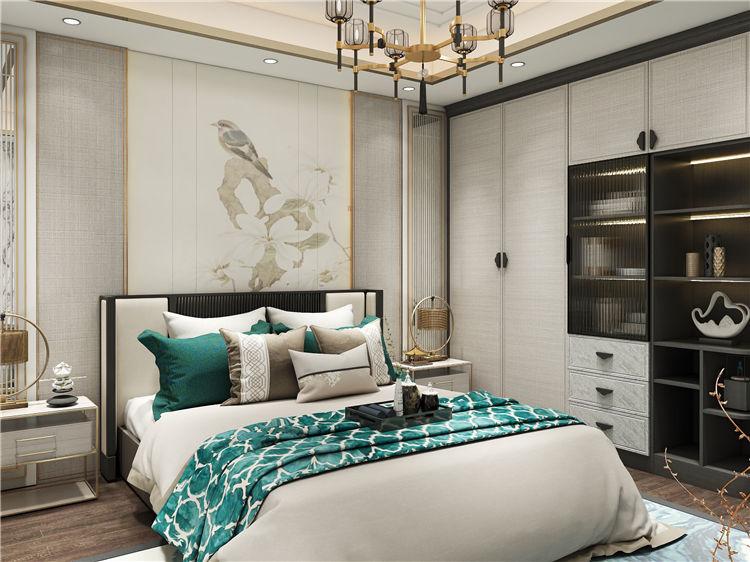 怡翠尊堤全屋家具定制:卧室衣柜设计效果图