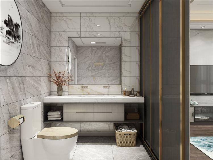 怡翠尊堤全屋家具定制:浴室卫生间设计效果图
