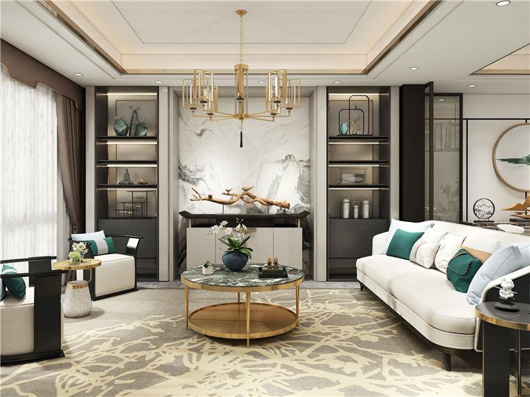 诗音格系列新中式客餐厅设计风格效果图欣赏